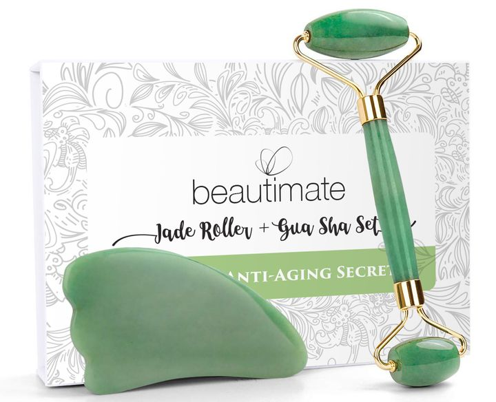 """<a href=""""https://www.huffpost.com/entry/jade-rollers_n_5a1c56f6e4b0e771d6b7f3a7"""" target=""""_blank"""" rel=""""noopener noreferrer"""">Our beauty editor road-tested jade stones</a> and dubbed them a good buy for beauty lovers who enjoy the &ldquo;the ritualistic aspect of sticking to a beauty routine.&rdquo; Get this set <a href=""""https://goto.walmart.com/c/2055067/565706/9383?subId1=5&amp;subId2=30days-day1&amp;subId3=Day1-consumables&amp;sharedid=30days20&amp;veh=aff&amp;sourceid=imp_000011112222333344&amp;u=https%3A%2F%2Fwww.walmart.com%2Fip%2F60-Off-Beautimate-Facial-Jade-Roller-Gua-Sha-Tool-Set%2F689568728"""" target=""""_blank"""" rel=""""noopener noreferrer"""">on sale for $16 at Walmart</a> right now."""