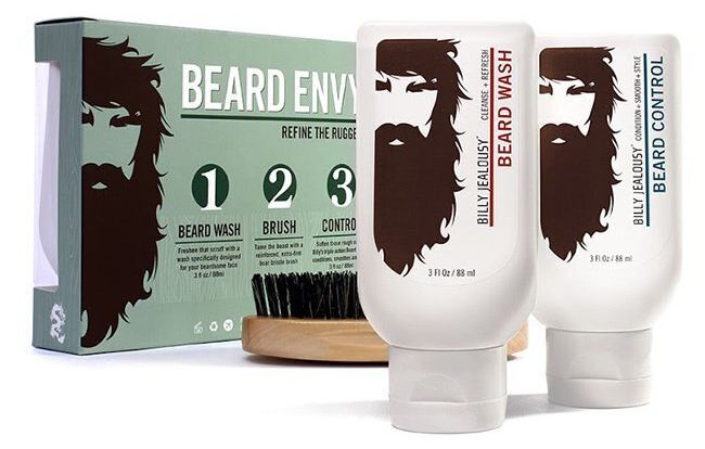 """Whip his quarantine beard into shape without breaking out the trimmers with <a href=""""https://goto.walmart.com/c/2055067/565706/9383?subId1=5&amp;subId2=30days-day1&amp;subId3=Day1-consumables&amp;sharedid=30days20&amp;veh=aff&amp;sourceid=imp_000011112222333344&amp;u=https%3A%2F%2Fwww.walmart.com%2Fip%2F25-Value-Billy-Jealousy-Beard-Envy-Gift-Set-For-Men%2F54263305"""" target=""""_blank"""" rel=""""noopener noreferrer"""">this affordable beard-grooming kit</a>."""