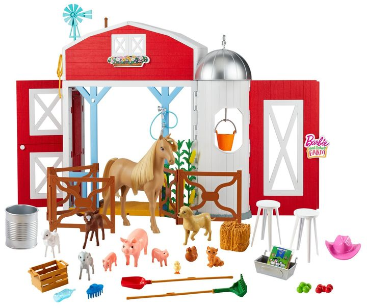 """<a href=""""This Barbie set might inspired the independent play parents everywhere need right now."""" target=""""_blank"""" rel=""""noopener noreferrer"""">This farm barn Barbie set</a> might inspire the independent play parents everywhere need right now."""