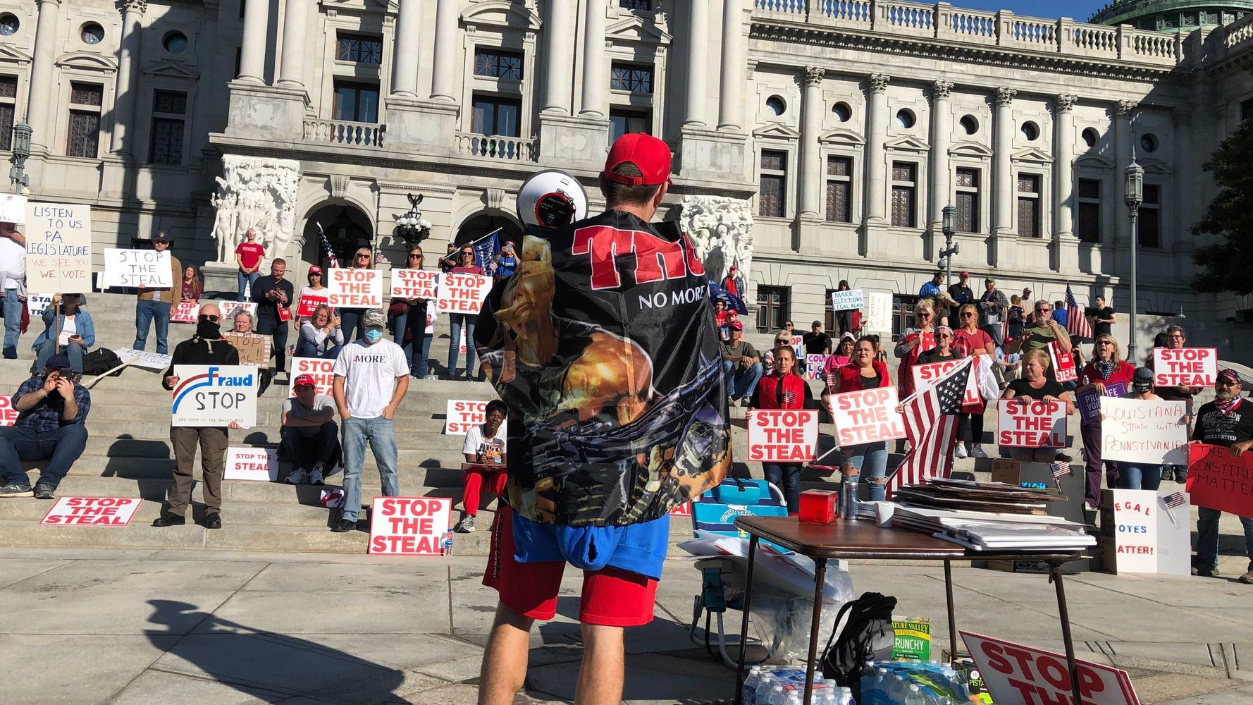 Pathetic 'Stop The Steal' Rally In Pennsylvania Shows A Struggling MAGA Movement