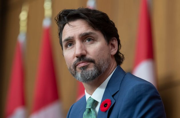 Prime Minister Justin Trudeau is seen during a news conference in Ottawa on