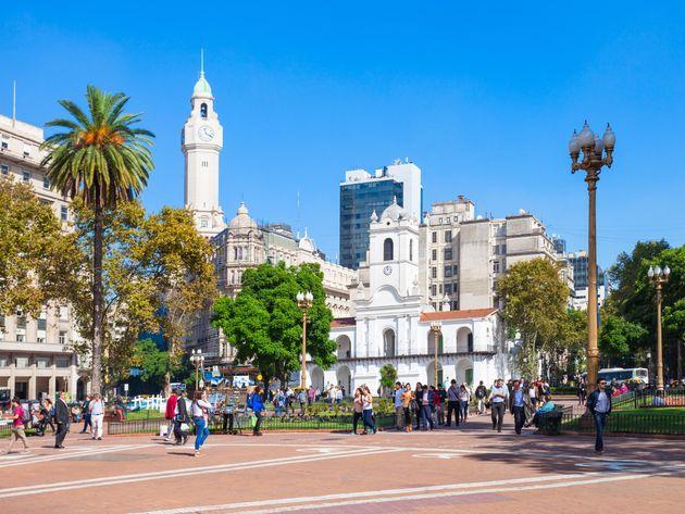 Le Plaza de Mayo à Buenos Aires, en Argentine. (photo