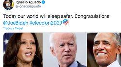 Aguado celebra la posible victoria de Biden mientras Ayuso se acerca al discurso de