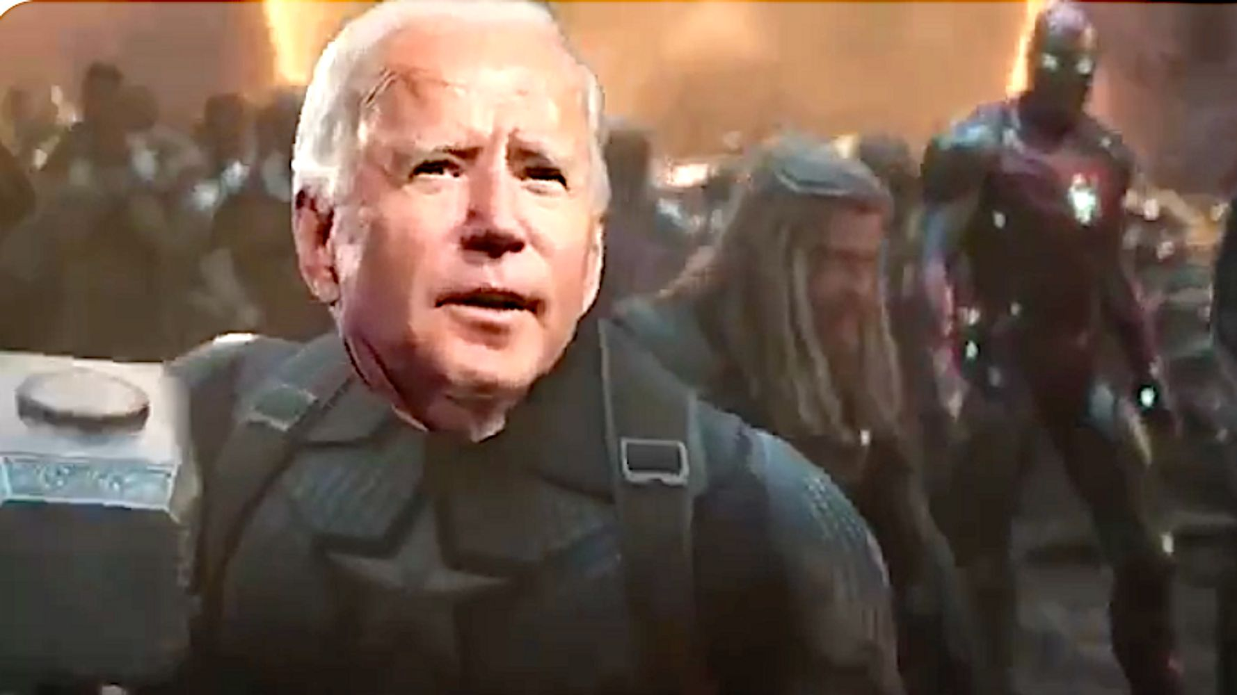 Antsy Voters Can't Get Enough Of Biden Bashing Trump In Avengers Election Remake