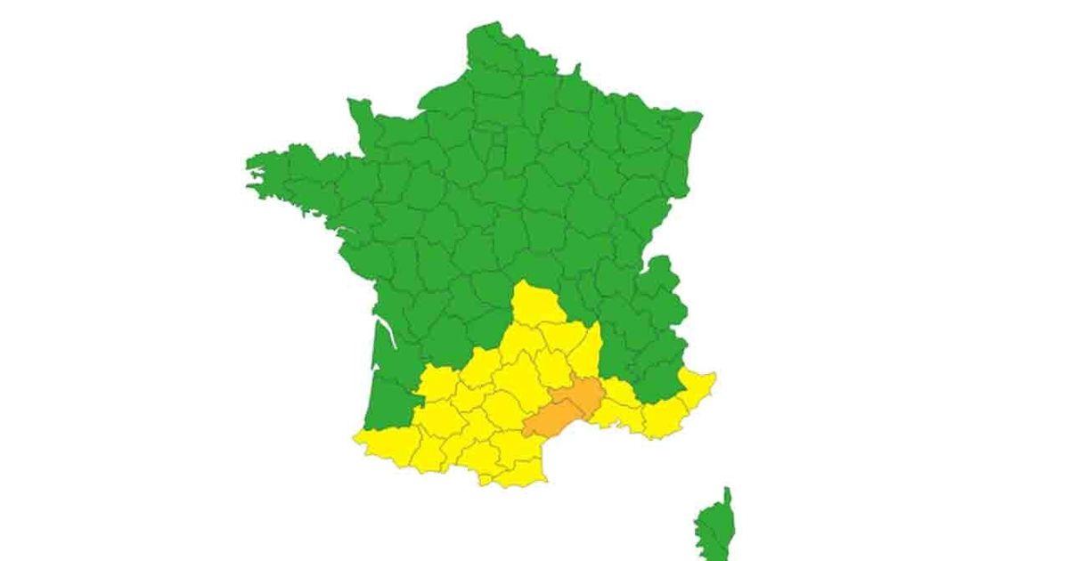 Météo: Le Gard et l'Hérault en vigilance orange pluie-inondations et orages