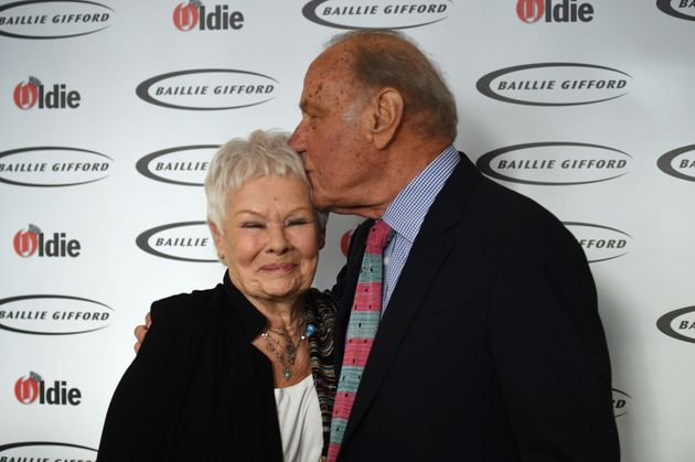 Dame Judi Dench and Geoffrey Palmer attending The Oldie of the Year Awards