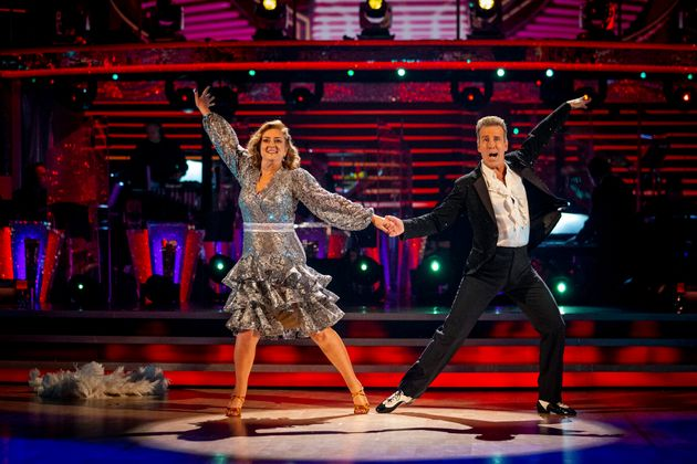 Jacqui Smith and Anton Du Beke on the Strictly