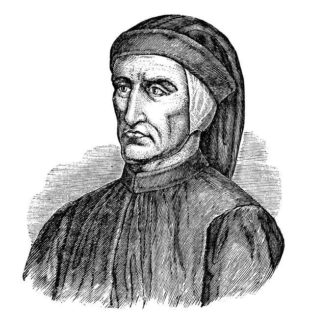 Antique illustration of Dante