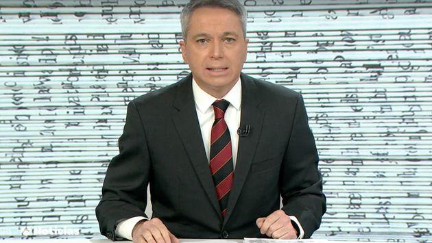 Vicente Vallés, durante el informativo de Antena 3 Noticias de este