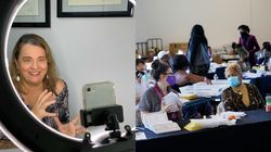 Advogada brasileira participa de contagem de votos nos