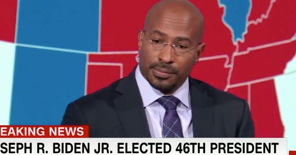 Emotional Moment CNN Host Van Jones Breaks Down On Air As Biden Wins
