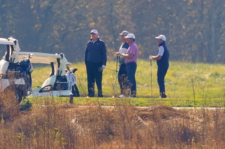 Trump was golfing when news broke that he had lost the election. (AP Photo/Patrick Semansky)