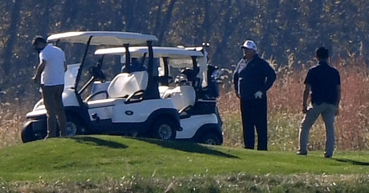 Trump Was, Er, Playing Golf When He Lost The Election