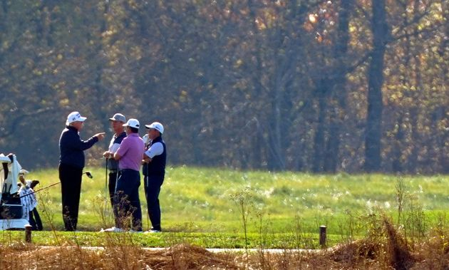 Donald Trump was golfing in Virginia when media outlets declared the election for