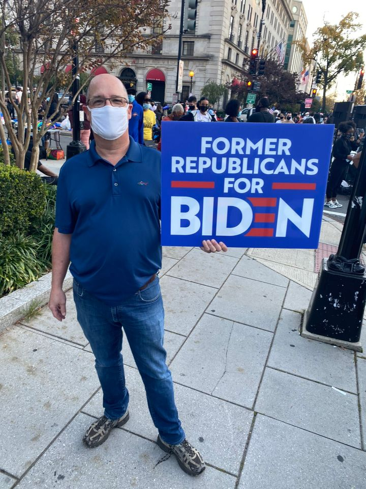Ken drove from Annapolis, Maryland, to participate in the celebration in Washington, D.C., once he heard that Joe Biden had b