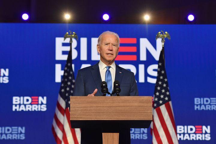 President-elect Joe Biden addressing the nation.