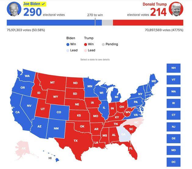アメリカ大統領選挙 開票速報