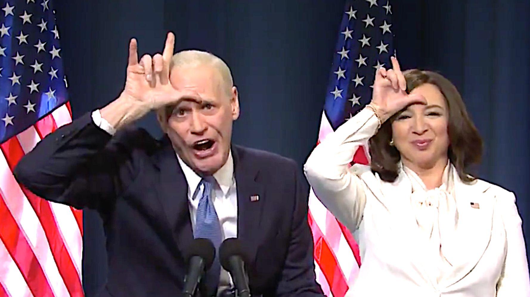 Jim Carrey's Joe Biden Slams L-o-s-e-r Trump As 'Saturday Night Live' Audience Goes Wild