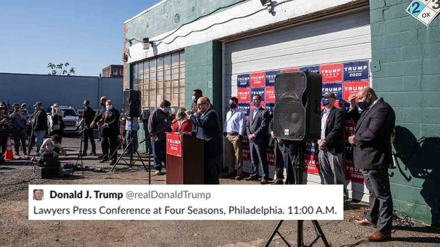 L'équipe de campagne de Donald Trump a cru convoquer une conférence de presse dans un prestigieux hôtel...