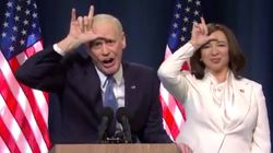 ジム・キャリー、バイデン氏の勝利宣言をノリノリで真似る。トランプ氏に「負け犬!」と皮肉