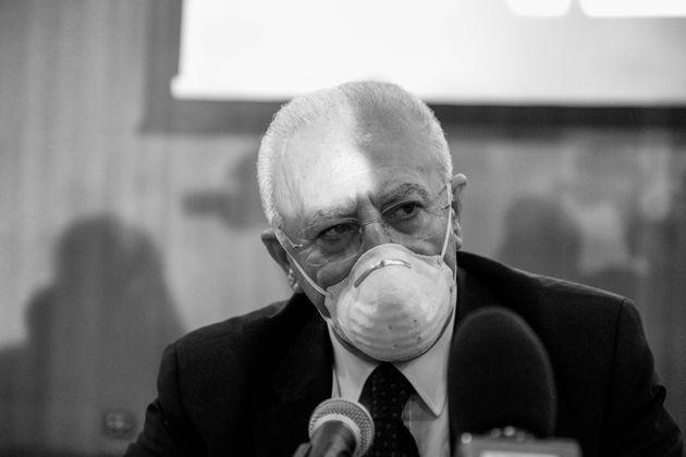 21/09/2020 Napoli, conferenza stampa di Vincenzo De Luca, che si riconferma Governatore della Regione
