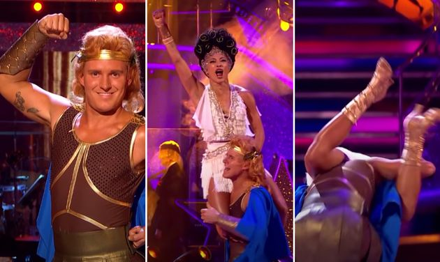 Jamie Laing and Karen Hauer's routine had a less-than-heroic