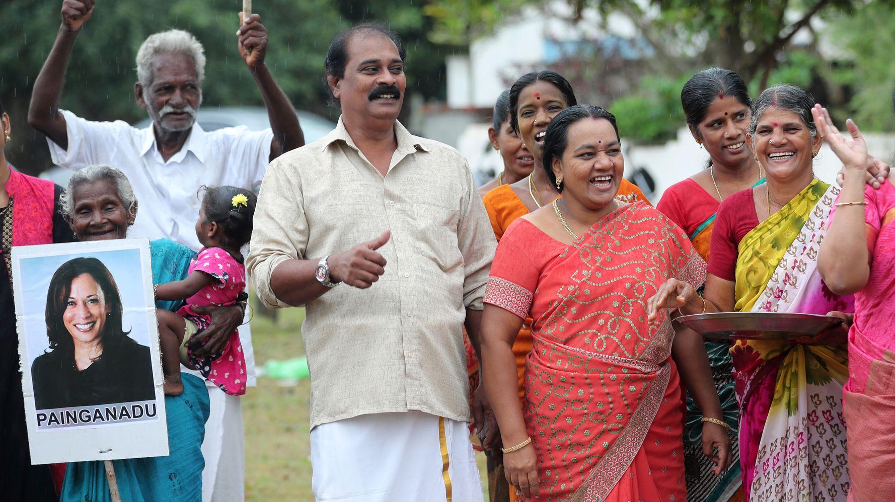 Indians Celebrate Kamala Harris' Win In Her Grandfather's Hometown
