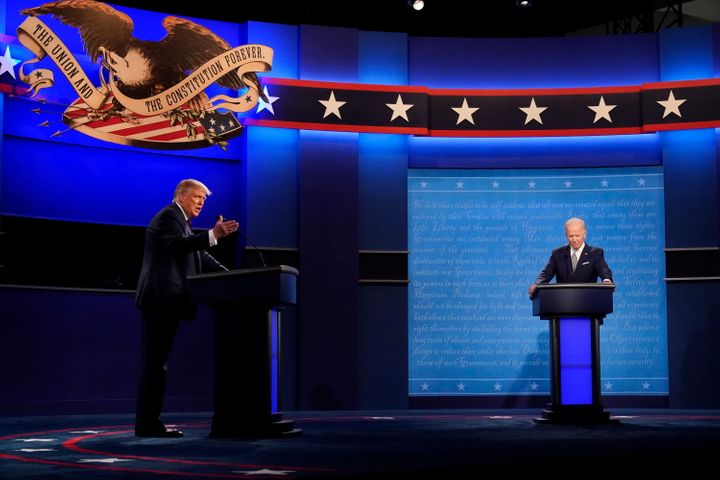 President Donald Trump and Democratic presidential candidate former Vice President Joe Biden during the first presidential de