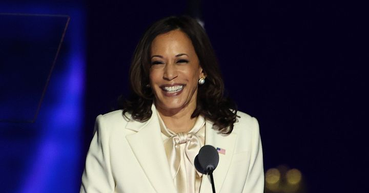 Kamala Harris's appointment is a great and glorious day for women. And noticing that she's got really nice eyeshadow does absolutely nothing to degrade that fact.