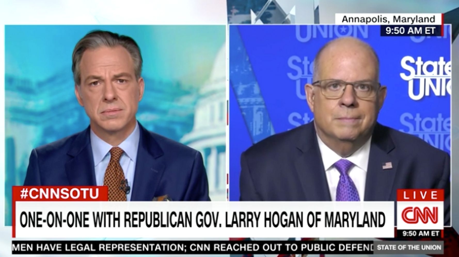 Jake Tapper Tells GOP Governor His Party Leaders Are 'Acting Like Babies'