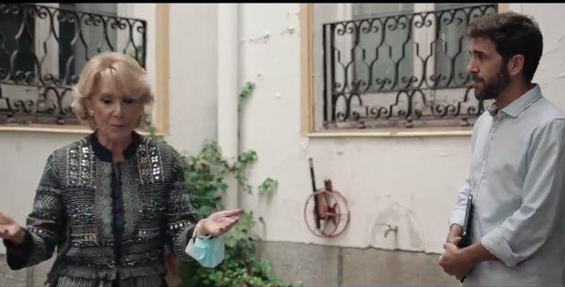Esperanza Aguirre durante su entrevista en