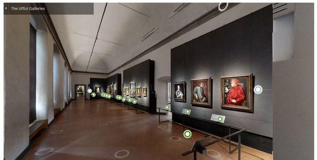 Il linkdel tour virtuale al Museo degli Uffizi di