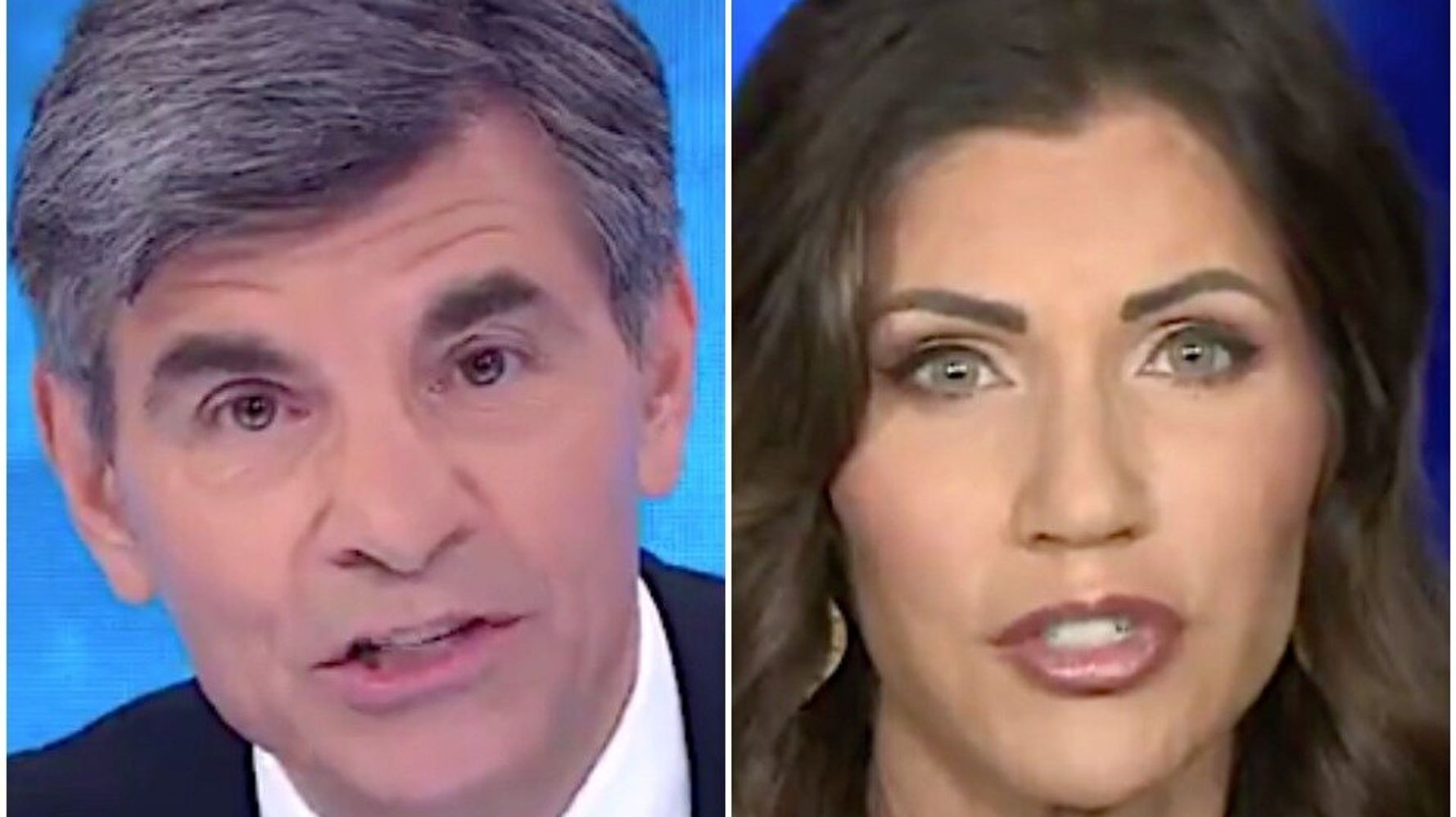 George Stephanopoulos Slaps Down South Dakota Governor's Election Fraud Claims