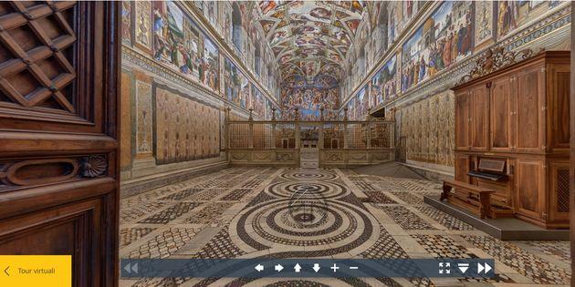 Illinkdel tour virtuale nei Musei Vaticani di