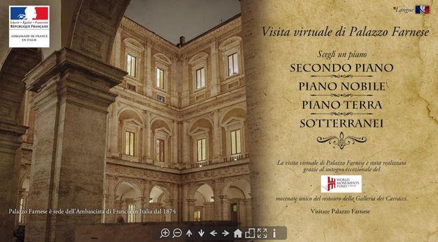 Il link al tour virtuale nel Palazzo Farnese a