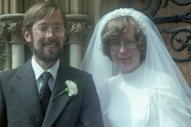 My mum and dad's wedding in Bristol in August 1979