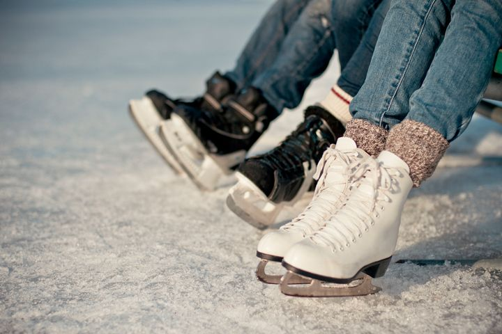 Canadians lace up their skates in this undated stock photo. Infectious disease experts say ice skating is generally safe while trying to avoid COVID-19, but it's best to do it outside while avoiding crowds.
