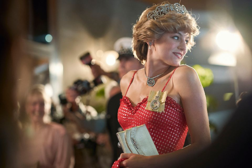 Diana Princess of Wales, played by Emma Corrin, as the show finally arrives into more modern