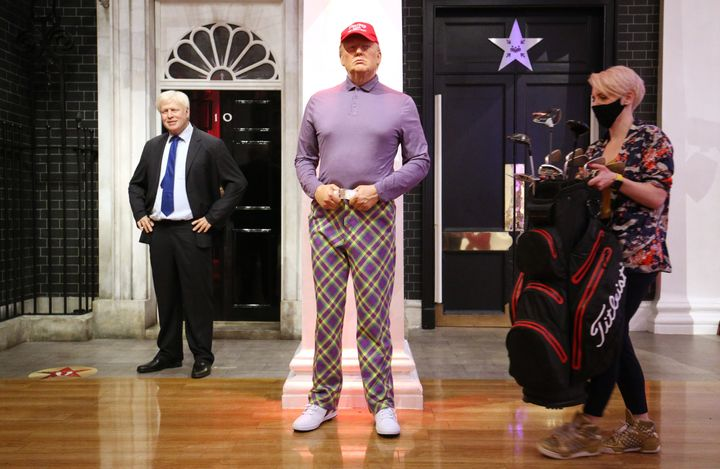"""Madame Tussauds London said its Trump makeover is meant """"to reflect his potential 2021 wardrobe."""""""