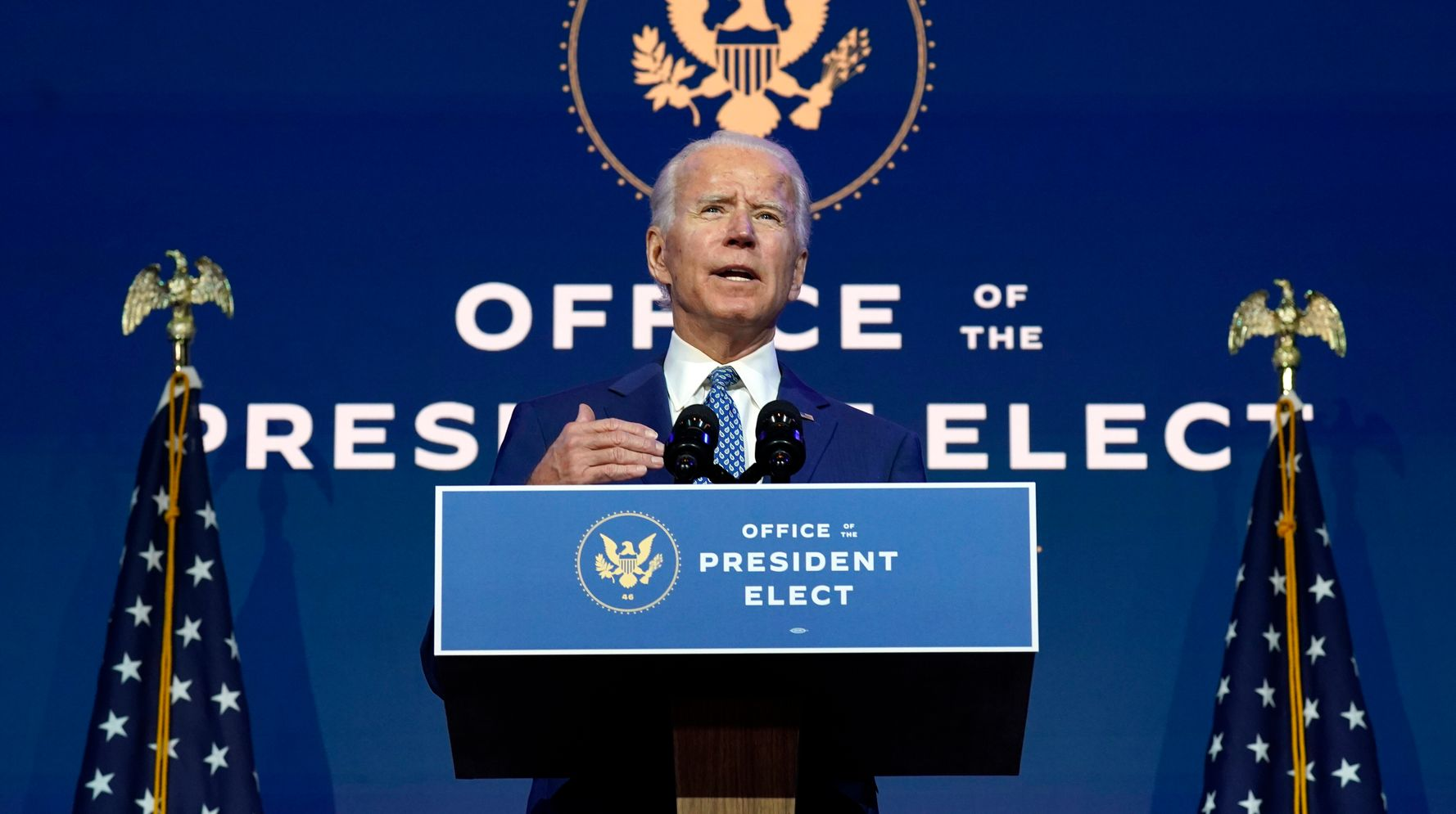 Biden Implores Americans To Wear Masks In First Remarks Since Declaring Victory