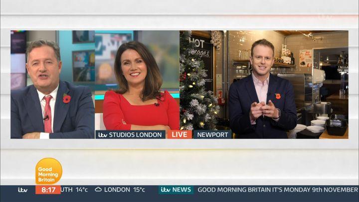 Piers Morgan recounted an awkward hotel story on Good Morning Britain