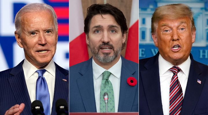 U.S. president-elect Joe Biden, Prime Minister Justin Trudeau, and U.S. President Donald Trump are shown in a composite image of photos from The Canadian Press.