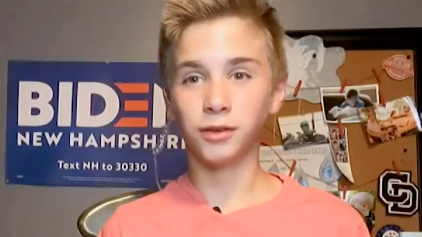 Teen With Stutter Who Spoke At DNC Thrilled About Biden's Victory
