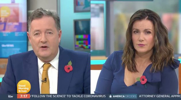 Piers Morgan and Susanna Reid address Good Morning Britain