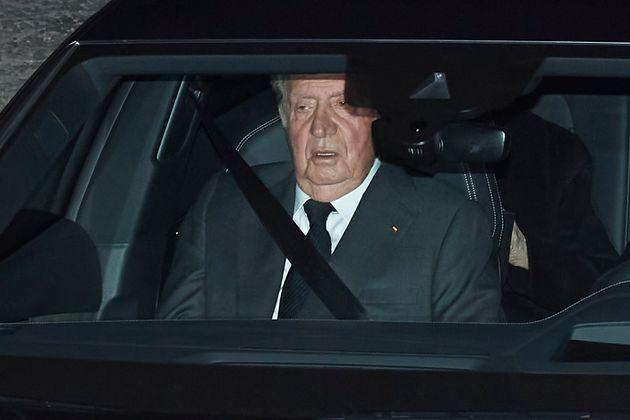 Juan Carlos I, el pasado 8 de enero, en el funeral de Pilar de