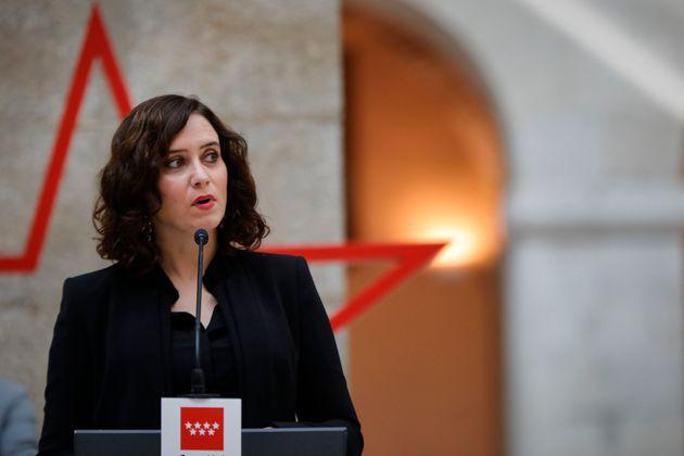 Isabel Díaz Ayuso, el 18 de octubre de 2020 en Madrid (Jesús Hellín/Europa Press...