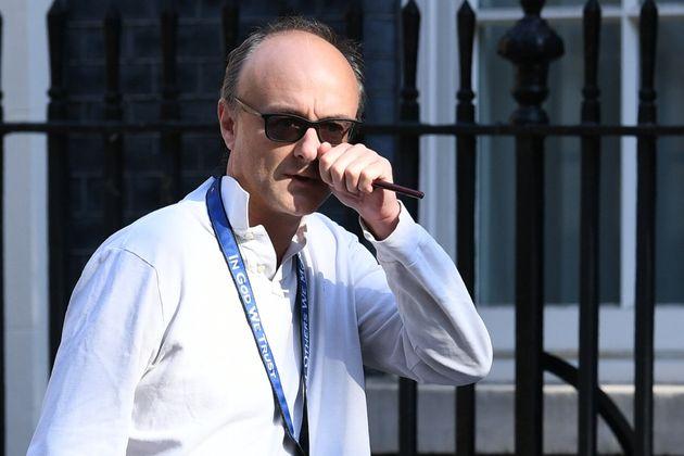 Boris Johnson's top aide Dominic Cummings pictured in