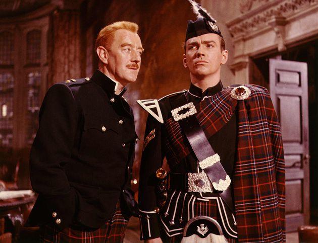 John (right) in 1960's Tunes Of Glory alongsideAlec
