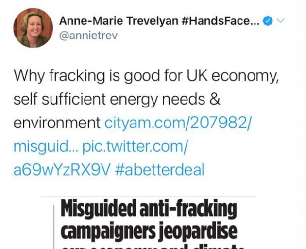 Anne-Marie Trevelyan's previous comments about fracking from