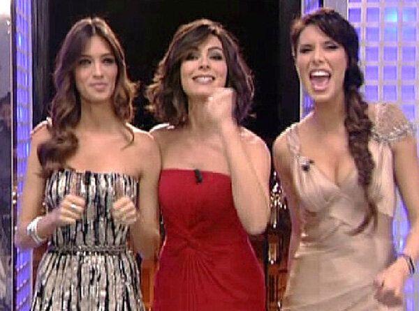 Sara Carbonero, Pilar Rubio y Marta Fernández dan las Campanadas de 2011.